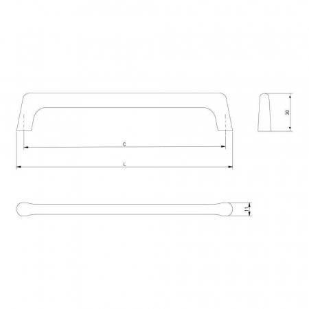 Maner mobila OCTAVIO 192 mm, negru mat [3]