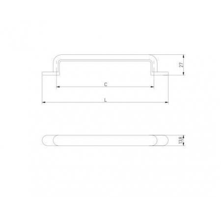 Maner mobila OTTO 128 mm, auriu [3]