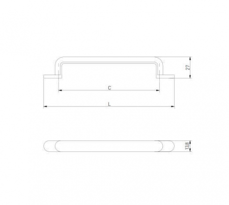 Maner mobila OTTO 160 mm, auriu [3]