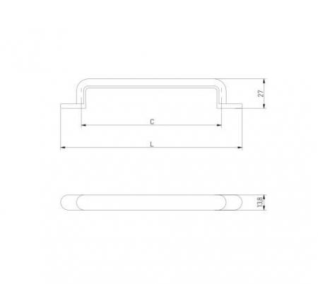 Maner mobila OTTO 128 mm, negru mat [1]