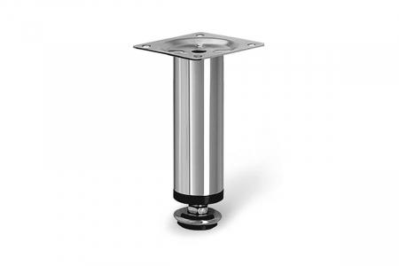 Picior mobila ajustabil BD H100 mm, metalic, cromat [0]