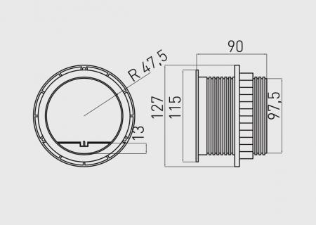 Priza incorporabila CHARGER, 1xSCHUKO, 2xUSB 5V/2A, cablu 1.5 ml inclus [2]