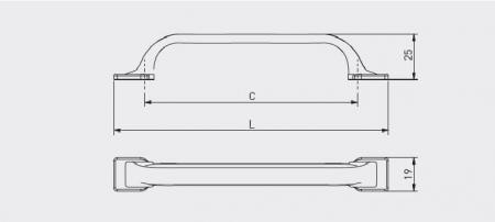 Maner mobila bucatarie RETRIS 128 mm, alama antichizata [1]