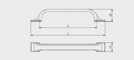 Maner mobila bucatarie RETRIS 128 mm, negru mat [1]