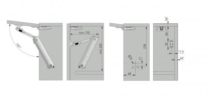 Piston de ridicare MINILIFT Medium 3.5-4.5 kg8