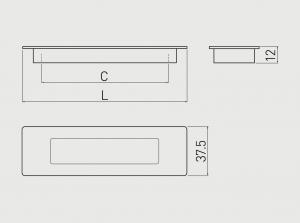 Maner mobila ingropat E6 128 mm, Aluminiu1