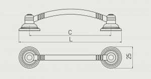 Maner mobila RENNES 96 mm, alama periata1
