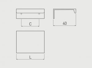 Maner mobila HEXI 225 mm, negru mat2