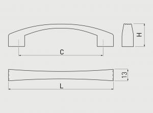 Maner mobila VASTO 96 mm, alama antichizata [1]