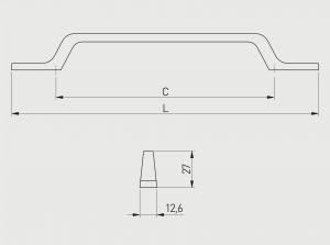 Maner mobila FLAVIO 96 mm, alama [4]