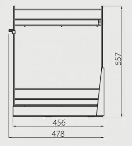 Cos Jolly pentru corp mobilier 200 mm, inchidere cu amortizare1