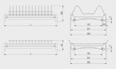 Scurgator (picurator) vase, doua nivele, corp mobilier 800 mm, pal 18 mm [3]