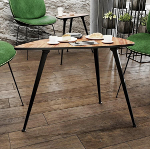 Set 4 picioare pentru birou, gama X-Line, ajustabile, H 870 mm, Negru Mat [2]
