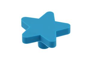 Buton mobila copii Star 50x48 mm, albastru [0]