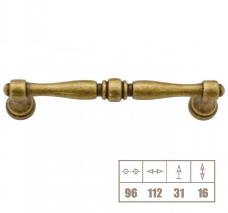 Maner mobila WMN619 96 mm, alama antichizata [1]