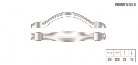 Maner mobila WMN817 96 mm, alama antichizata [2]