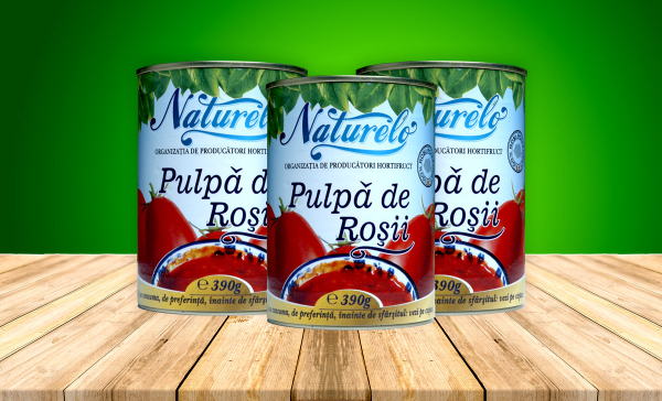 PULPA DE ROSII , conserva 425 ml Naturelo 0