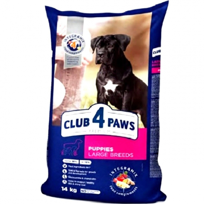 CLUB 4 PAWS DOG  USC. PUPPIES  LARGE BREEDS PUI 14 KG 0