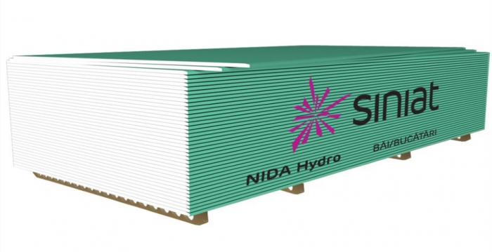 PLACA GIPS-CARTON NIDA HYDRO 9,5MM 0