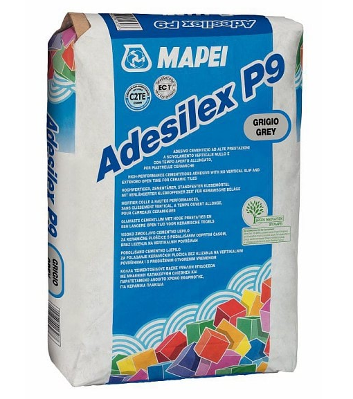 Adeziv gresie si faianta Mapei Adesilex P9 0