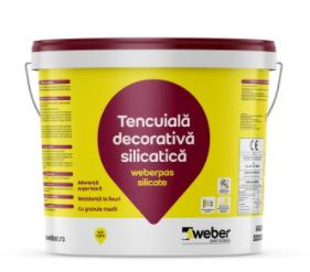 Tencuiala decorativa Weberpas silicate 0