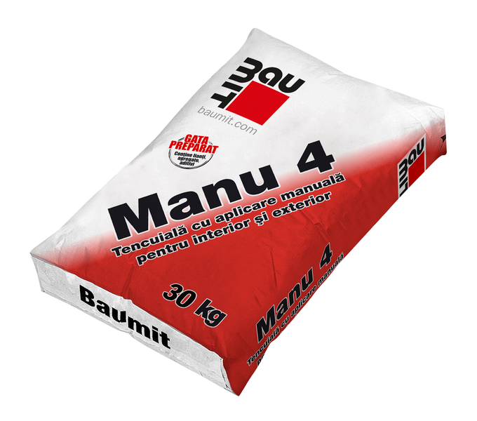 Tencuiala manuala var-ciment Baumit Manu 4 [0]