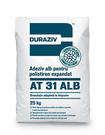 Duraziv AT31 adeziv alb pentru polistiren expandat 25Kg 0
