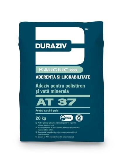 DURAZIV cu Kauciuc AT 37 Adeziv pentru polistiren şi vată minerală  - GAMA EXPERT 20Kg 0