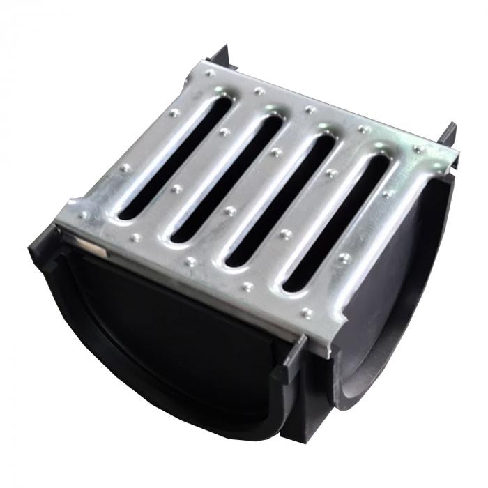 Element Kit Drainbox Smart pentru imbinarea rigolelor in T sau L, cu gratar din otel zincat [1]