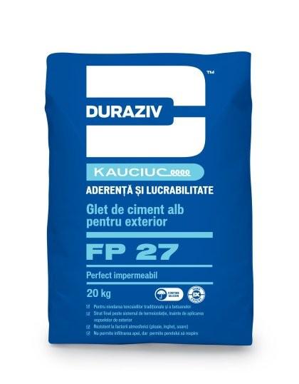 Glet de ciment alb pentru exterior DURAZIV FP 27 0