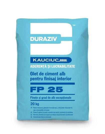 Glet de ciment alb pentru finisaj interior DURAZIV FP 25 0