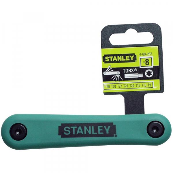 Set pliabil de 8 chei torx 9-40mm Stanley 4-69-263 0