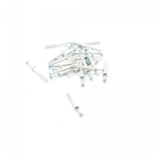 Surub cu diblu din plastic Rigips 6x45mm 100buc 2