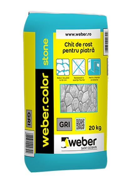 Weber.color Stone Chit pentru piatra naturala (GRI) - 20 kg 3