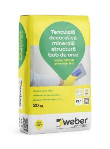 Tencuiala decorativa minerala Weber MIN100 k1,5 0