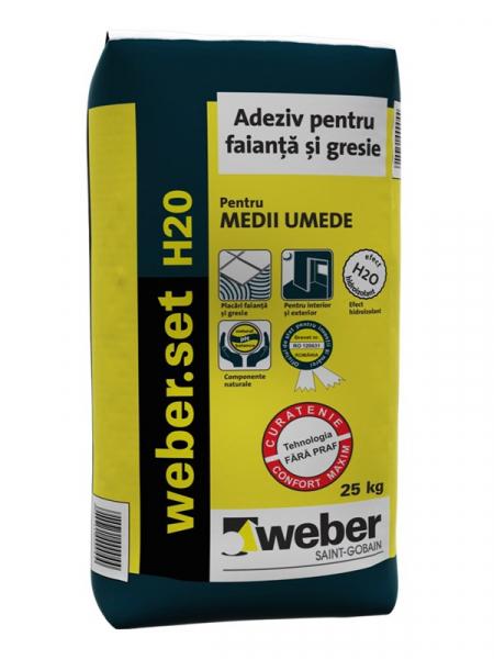 Weber.set H2O Adezivpentru placi ceramice - 25 kg 2