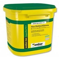 Weber.tec Superflex D 2 - Hidroizolatie flexibila bicomponenta pentru interior si exterior 24kg 0