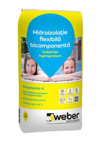 Webertec Hydroprotect hidroizolatie flexibila bicomponenta pentru interior si exterior - 30Kg 1