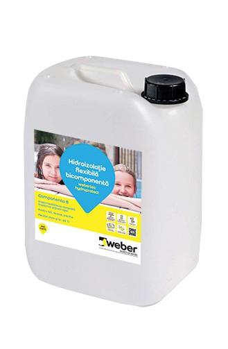 Webertec Hydroprotect hidroizolatie flexibila bicomponenta pentru interior si exterior - 30Kg 2