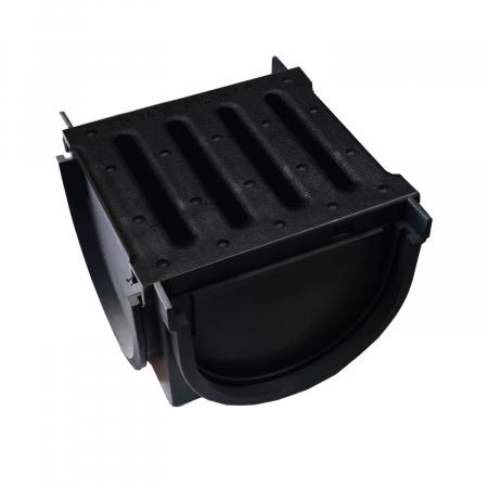 Element Kit Drainbox Smart pentru imbinarea rigolelor in T sau L, cu gratar din polipropilena [0]