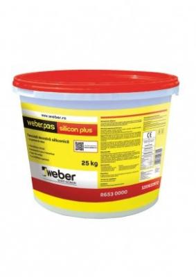 Weber.pas silicon plus Tencuiala Decorativa Siliconica - Grupa de culoare 1 - 25 kg0