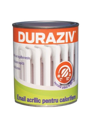DURAZIV - EMAIL ACRILIC ALB PENTRU CALORIFERE 0