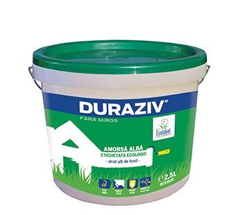 DURAZIV Fără Miros Amorsă albă cu Kauciuc®, Ecolabel 0