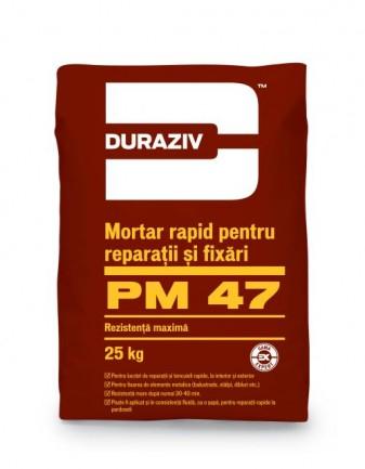 DURAZIV PM 47 Mortar rapid pentru reparații și fixări 0