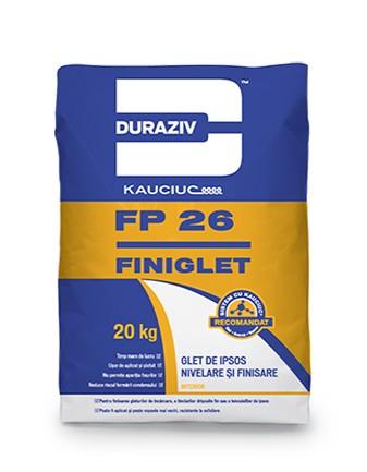 DURAZIV FP 26 Glet de ipsos nivelare şi finisare, aditivat cu Kauciuc 0
