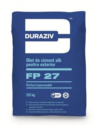 DURAZIV FP 27 Glet de ciment alb perfect impermeabil, aditivat cu Kauciuc 0