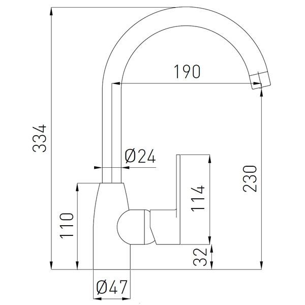 FRESH baterie stativa bucatarie grafit 1