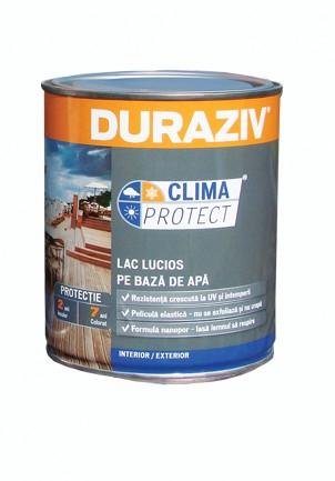 DURAZIV - LAC LUCIOS PE BAZĂ DE APĂ  Pentru interior / exterior Clima Protect 0