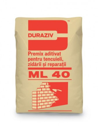 DURAZIV ML 40 Premix aditivat pentru tencuieli, zidării și reparații 0