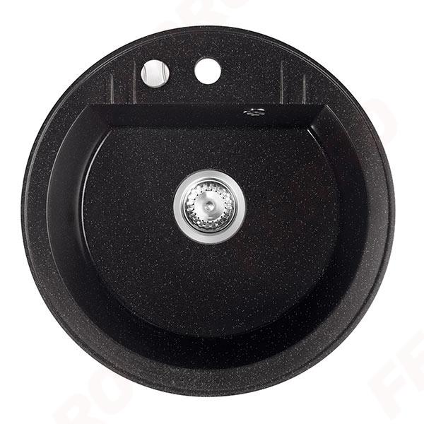 Chiuveta granit 1 cuva rotunda 510mm  MEZZO II, grafit shine 0